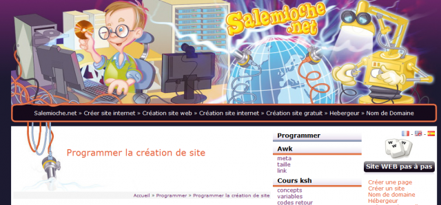 screenshot de site sans desktop